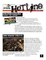 ArtWorks Creative Mixer, SteamPlant, 6 pm - Salida Artworks