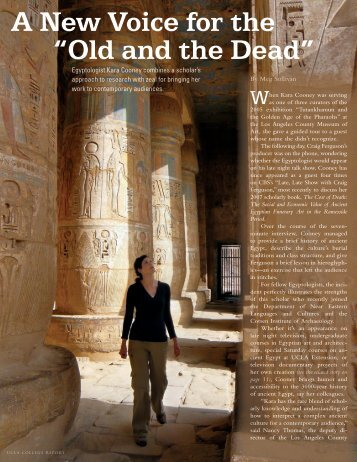 """A New Voice for the """"Old and the Dead"""" - UCLA Humanities Portal"""