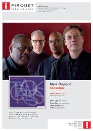 MARC COPLAND – CROSSTALK - Pirouet Records