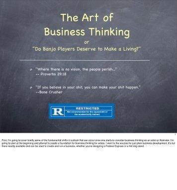 The Art of Business Thinking (PDF) - Paul Mirocha Illustration