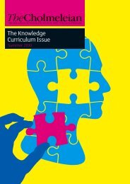 The Knowledge Curriculum Issue - Highgate School