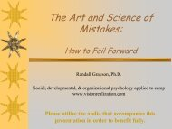 The Art and Science of Mistakes: - Vision Realization