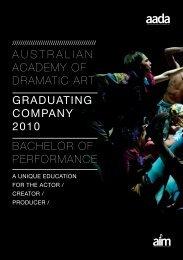dramatic art graduating - Australian Institute of Music