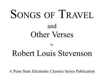 Songs of Travel - Pennsylvania State University
