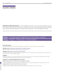 Vision : Creating value through the art of serving the customer ... - DnB