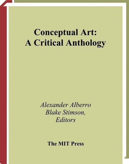 Conceptual Art A Critical Anthology Uncopy