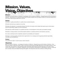 Mission, Values, Vision, Objectives - The Art Institutes