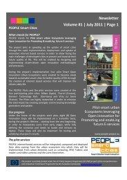 Newsletter Vol.1 - PEOPLE Smart Cities