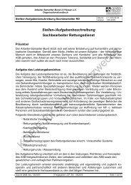 Stellen-/Aufgabenbeschreibung Sachbearbeiter Rettungsdienst