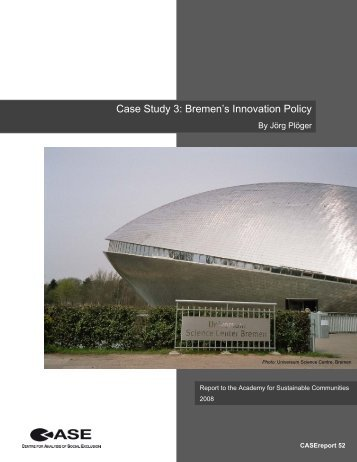 Case Study 3: Bremen's Innovation Policy - STICERD