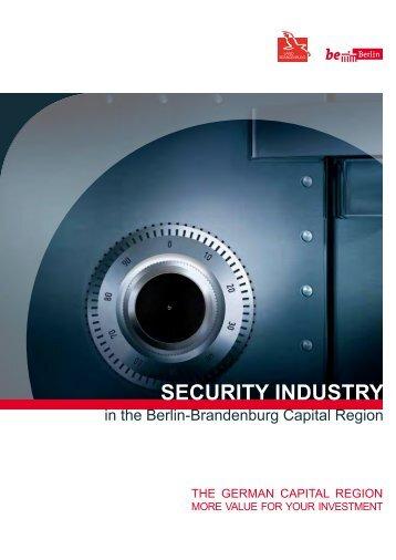 SECURITY INDUSTRY - Ministerium für Wirtschaft und ...