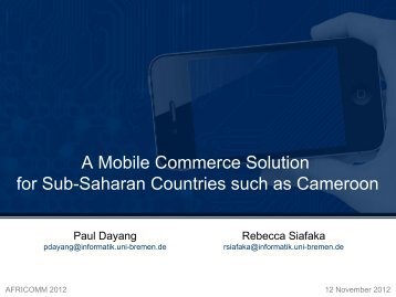 A Mobile Commerce Solution for Sub-Saharan Countries such as ...