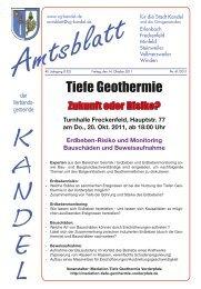 Tiefe Geothermie - Verbandsgemeinde Kandel
