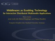 Middleware as Enabling Technology - NMM