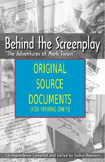 Original Sources for Behind the Screenplay - Harold Sherman