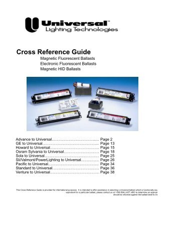 Cross Reference Guide - Atlanta Light Bulbs