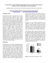 Weakness in Ankle Dorsiflexors Reduces Balance Recovery Ability