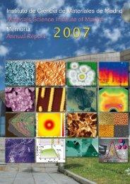 Memoria PDF - Materials Science Institute of Madrid - Consejo ...