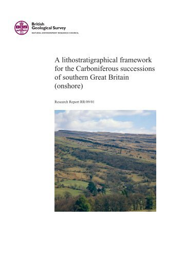 A lithostratigraphical framework for the Carboniferous successions ...