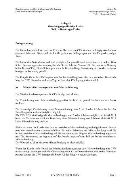 Cfv Vertrag Anlage 3 Teil I Pdf110 Bundesnetzagentur