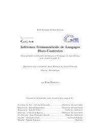 Inférence Grammaticale de Langages Hors-Contextes - CMI