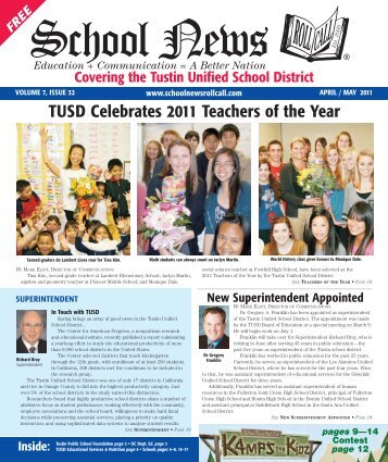 TUSD Celebrates 2011 Teachers of the Year - School News Roll Call