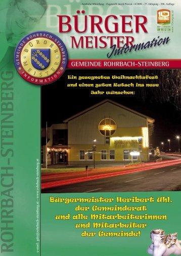 Bürgermeister Heribert Uhl - Rohrbach-Steinberg