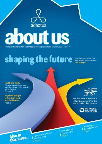 Also in this issue... - Adactus Housing Group Ltd