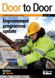 Improvement programme update - Bolton at Home