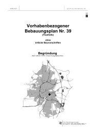Vorhabenbezogener Bebauungsplan Nr. 39 - Planungsbeteiligung ...