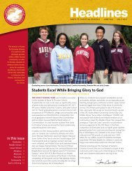 Headlines - Santa Fe Christian Schools