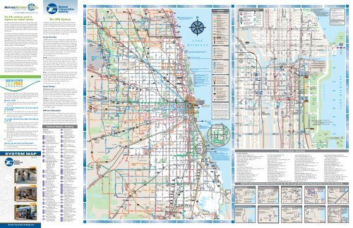 Transit Chicago Map.The Rta System Map Chicago Transit Authority