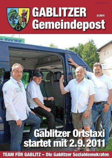 Gablitzer Ortstaxi startet mit 2.9.2011 - Purkersdorf Online