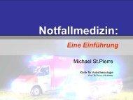 Notfallmedizin: - Anästhesiologische Klinik, Universitätsklinikum ...