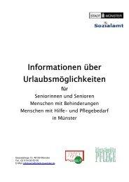 Informationen über Urlaubsmöglichkeiten für ... - KOMM Münster