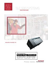 SLC 500 SYSTEMS - Helmut Singer Elektronik