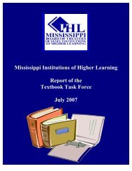 Report Cover - Mississippi Board of Trustees of State Institutions of ...