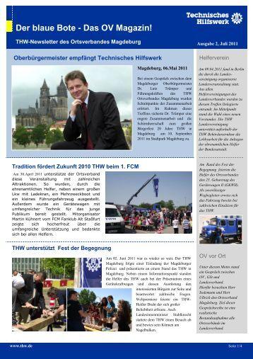 Der blaue Bote - Das OV Magazin! - 20 Jahre THW Magdeburg