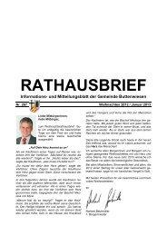 RATHAUSBRIEF Informations- und Mitteilungsblatt der Gemeinde ...