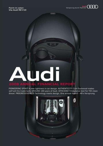 2008 Annual Financial Report (12 MB) - Audi