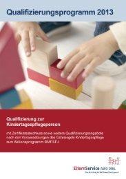 Qualifizierungsprogramm 2013 ElternService AWO OWL (2,48 MB