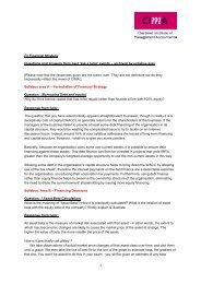 F3 Financial Strategy Questions and answers from past 'ask ... - CIMA