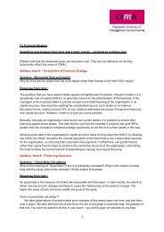 The Examiner's Answers – Specimen Paper E1 - Enterprise