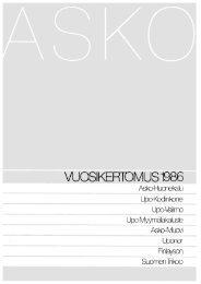 VUOS|KERTOMUS1986 ~ - Uponor