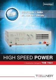 Datenblatt TOE 7621 - TOELLNER Electronic Instrumente GmbH
