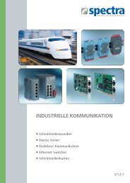 INDUSTRIELLE KOMMUNIKATION - Spectra Computersysteme ...