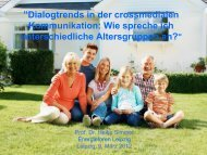 Dialogtrends in der crossmedialen Kommunikation: Wie spreche ich ...
