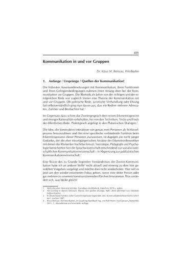 Kommunikation in und vor Gruppen - KMB | Konzept • Management ...