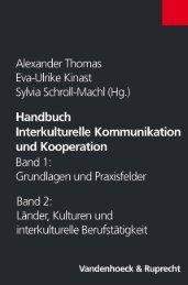 Handbuch Interkulturelle Kommunikation und ... - E-cademic