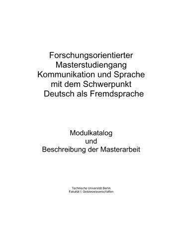 Forschungsorientierter Masterstudiengang Kommunikation und ...